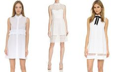 Collared white dresses