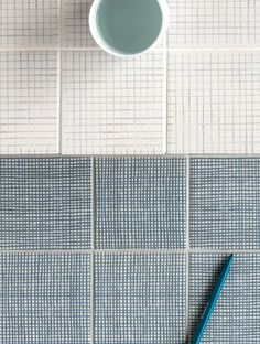 "Pattern ""Aqua"" and ""Feutre"" tiles by Inga Sempé for Mutina"