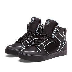 "SUPRA VAIDER ""FLYNN"" Shoe | BLACK / NEON BLUE - BLACK | Official SUPRA Footwear Site"