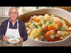 Hello Everybody! Today I am sharing with you my Minestrone soup recipe. This dish is perfect on those cold winter nights! Watch the video below to see how I cook this recipe in real-time or keep readi Pasta Recipes, Soup Recipes, Cooking Recipes, Healthy Recipes, Italian Wedding Soup Recipe, Cacciatore Recipes, Gluten Free Puff Pastry, Spicy Sausage, Kitchens