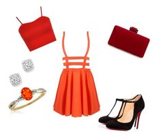 """Untitled #126"" by kristinakotenko on Polyvore featuring Christian Louboutin, Bloomingdale's, Belk & Co. and WearAll"
