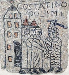 Mosaic: Medieval Italy. Basilica san Giovanni Evangelista, Ravenna, Emilia Romagna