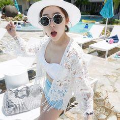 2016 Womens Swimwear Beachwear Crochet Bikini Beach Wear Cover Up Long Sleeve Tassel Ladies Summer Lace Dress Swimsuit Coverup
