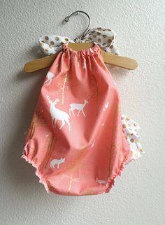 Baby Girl Stuff: Wild Heart Ruffled Baby Girl Romper
