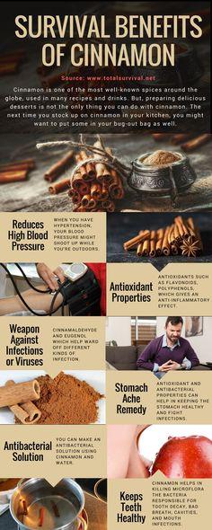 Survival Tips, Healthy Lifestyle Tips:7 Survival Benefits of Cinnamon. #natural #healthy #cinnamon #survival #offgrid