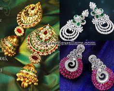 Jewellery Designs: Sparkling Grand Diamond Earrings