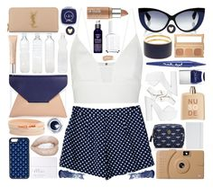 """polka dots"" by xgracieeee ❤ liked on Polyvore featuring Narciso Rodriguez, Jonathan Saunders, Sole Society, She.Rise, Brooks Brothers, Tory Burch, Smashbox, Nails Inc., Bobbi Brown Cosmetics and CellPowerCases"