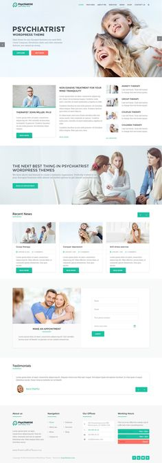 Psychiatrist is a WordPress business theme. It is focused on building #websites in the Psychiatry, psychology, therapist company niches. #healthcare