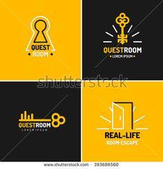 The logo for the quest room. Web Design, Logo Design, Logo Branding, Brand Identity, Game Logo, Escape Room, Graphic Design Typography, Graphic Design Inspiration, Royalty Free Images