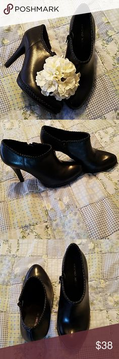 Antonio Melani boot heels Perfect condition. Worn once.  Too small for my feet. 7.5 M Super cute ANTONIO MELANI Shoes Ankle Boots & Booties