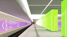 Shortlist Announced for the Moscow Metro Station Competition,Design for Novoperedelkino by Boris Voskoboynikov Studio [NEFARESEARCH]. Image Courtesy of Nefa Architects
