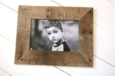Make picture frames using pallet wood.