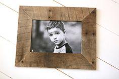 Make picture frames using pallet wood.