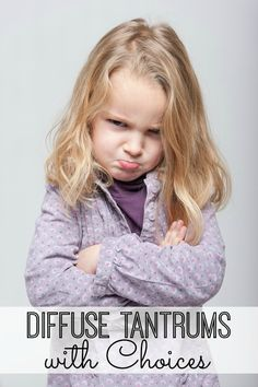 GREAT tips on how to diffuse tantrums! This totally worked with my 3 year old!