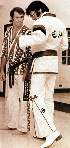 Elvis at Red Wests Memphis' Karate Insitute, September 16th 1974...