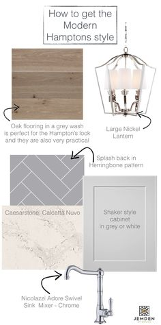 How to get the Hamptons look when you are building or renovating: oak flooring, nickel lantern, nicolazzi swivel sink mixer, shaker style cabinets, ma… – Renovation Hamptons Style Decor, The Hamptons, Interior Designers Melbourne, Herringbone Tile Pattern, Shaker Style Cabinets, White Oak Floors, Oak Flooring, Fashion Room, Kitchen Styling