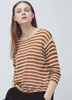 Pullover fantasia righe - Cardigan e pullover da Donna | MANGO Italia