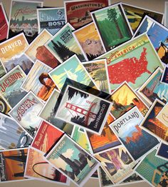 Deluxe Americana Postcards – Set of 46 | made by Anderson Design Group