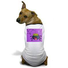Silly Spider Dog T-Shirt by #MoonDreamsMusic #SillySpider #DogTshirt #Halloween