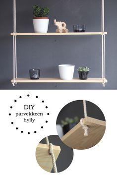 DIY riippuhylly roikkuva hylly - Kuplassa   Lily.fi