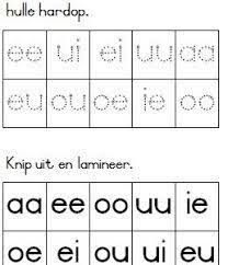Image result for klanke vir graad 1 Printable Preschool Worksheets, Afrikaans, Handwriting Practice, Kids Education, Phonics, Kids Learning, Homeschool, Classroom, Teaching