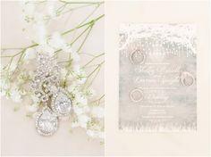 DIY White Winter Wonderland Wedding by Christina Forbes Photography