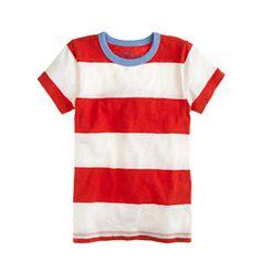 Boys' ringer tee in wide stripe
