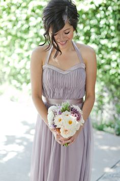 lavender long dress