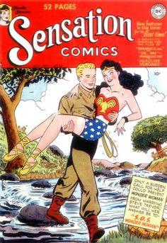 Sensation Comics 94 (1949) - cover by Arthur Peddy - with Wonder Woman and Steve Trevor