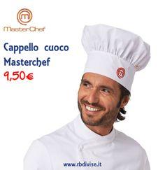 Cappello cuoco MASTERCHEF solo a 9,50€. Acquistalo ORA su www.rbdivise.it!