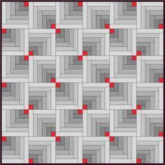 Log Cabin tutorial w/many variations