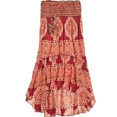 4d3e46da94 CALYPSO St. Barth Ciosa Block Printed Silk Skirt ( 259) ❤ liked on Polyvore  featuring skirts