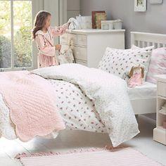 Buy Childrens Bedroom > Girls Bedroom > Rose Garden Duvet Cover & Pillowcase Set from The White Company