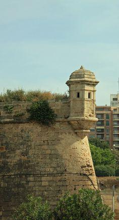 Palma de Majorca, Spain--looks so much like the turrets of El Morro (San Juan, Puerto Rico)