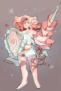 Pearl + Rose Quartz ||| Steven Universe Fan Art by torterra on Tumblr
