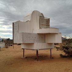 Noah Purifoy's installation.