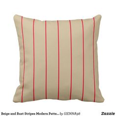 Beige and Rust Stripes Modern Pattern