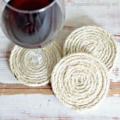 DIY+Twine+Coasters+by+The+Space+Between+via+Funky+Junk+Interiors