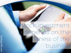 #stockinvestment depends on the fitness of the #business.  www.equityprofit.com