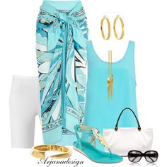 """Emilio Pucci Sarong"" by arjanadesign on Polyvore"