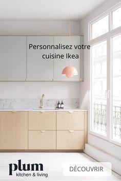 Personnalisez votre cuisine Ikea avec les façades Plum Kitchen ! Choisissez le coloris et la finition de votre choix, et vous obtiendrez une cuisine unique, à votre image ✨ Ikea Kitchen Drawers, Ikea Kitchen Remodel, Apartment Kitchen, Bedroom Decor On A Budget, Bedroom Furniture Makeover, Kitchen Pantry Design, Kitchen Interior, Kitchen Ideas, Simple House