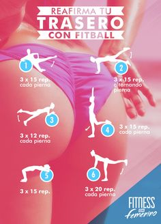 Reafirma tu trasero con fitbally por Fitness en Femenino - Firm your butt with fitball vía Fitness in Women. Fitness Workouts, Yoga Fitness, At Home Workouts, Fitness Motivation, Health Fitness, Physical Fitness, Easy Workouts, Fitness Status, Kids Fitness