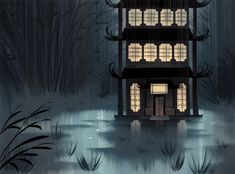 Samurai Jack Background Art  Designed/Painted by the legendary crew of Bill Wray, Dan Krall and Scott Willis.