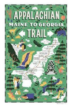 Thru Hiking, Hiking Tips, Hiking Spots, Trekking, Trail Maps, Appalachian Trail Map, Appalachian Mountains, Pacific Coast Highway, Road Trip Usa