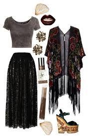 New moda hippie outfits kimonos Ideas Hippie Goth, Mode Hippie, Mode Boho, Hippie Hair, Nu Goth, Mode Outfits, Fashion Outfits, Womens Fashion, Skirt Outfits