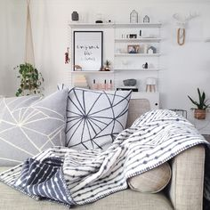 An easy way to introduce Scandi style without redecorating a whole room. - Fabulous Goose Scandinavian interior design products
