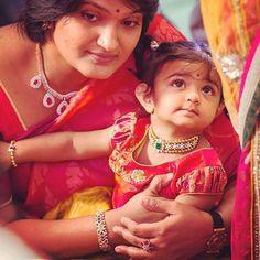 Bhargavi Kunam in Diamond Choker Baby Necklace, Gold Choker Necklace, Baby Jewelry, Kids Jewelry, Gold Jewelry, India Jewelry, Beaded Jewelry, Diamond Choker, Diamond Bangle