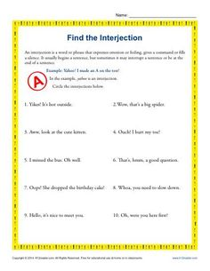 Third Grade Math Practice Worksheets Excel Free Adverb Worksheet  Fun With Literacy My Tpt  Pinterest  Weekly Goal Setting Worksheet Word with Math Worksheets For Grade 1 Printable Interjection Worksheet  Find The Interjection  Have You Been Looking For  A Basic Interjection Worksheet Handwriting Worksheets For Kids Excel