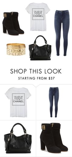 """""""Untitled #195"""" by kokosnuss2509 ❤ liked on Polyvore featuring Chanel, J Brand, Salvatore Ferragamo and Charlotte Russe"""