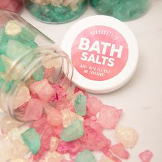 In this step by step tutorial we show you how easy it is to color and make your own sparkling bath salts, that make awesome gifts for weddings or holidays!